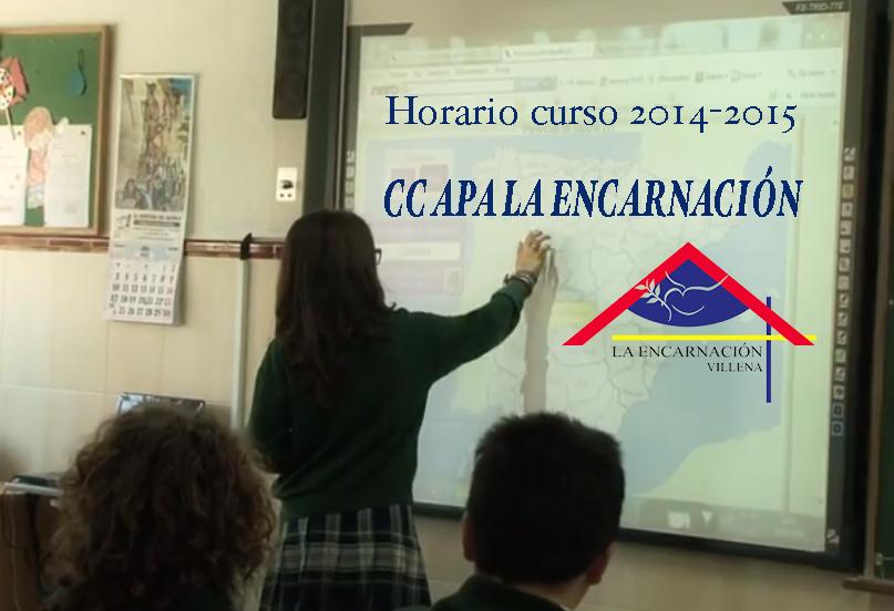 Horario del centro. Curso 2014-2015