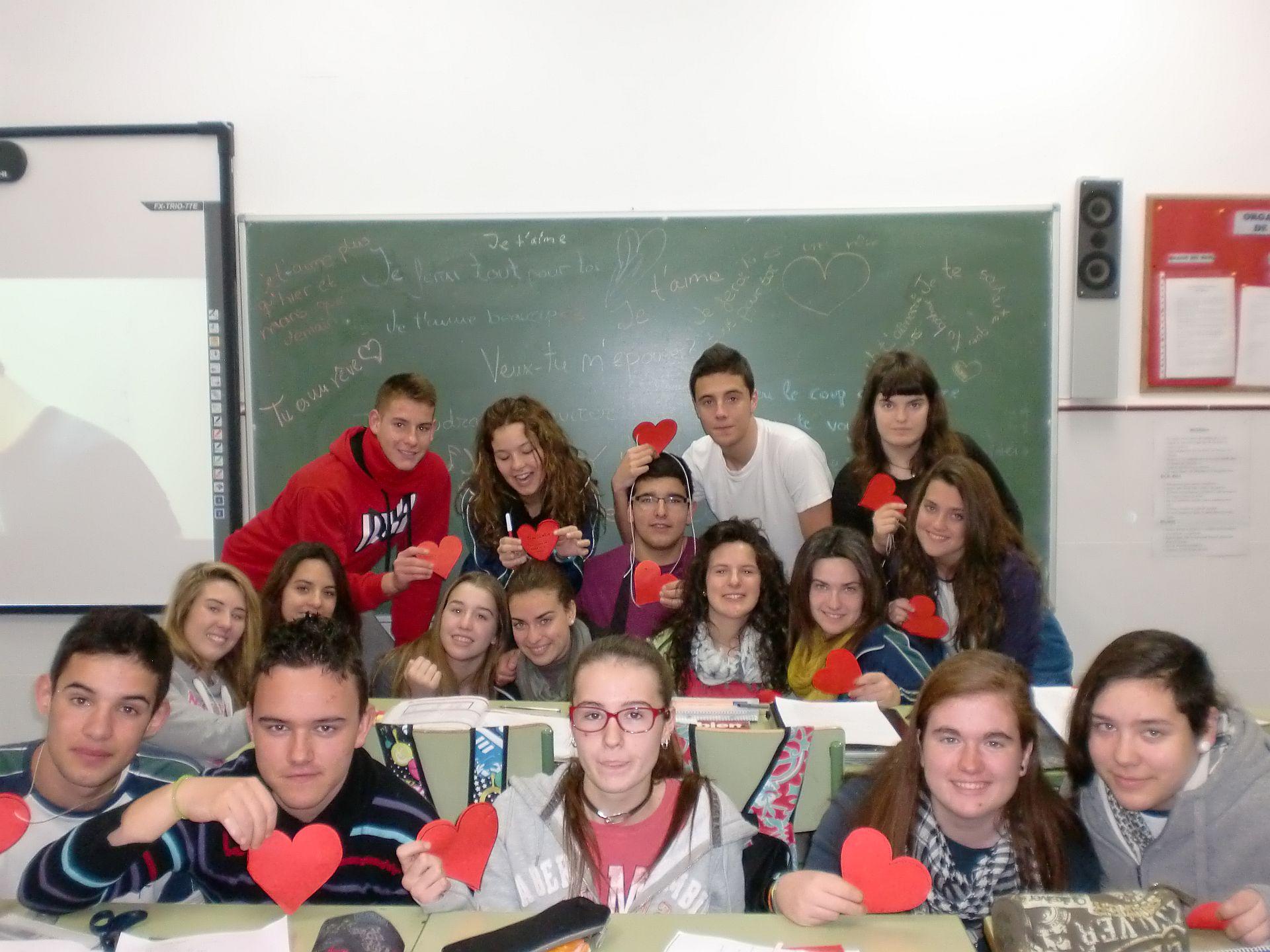San Valentín en la clase de francés