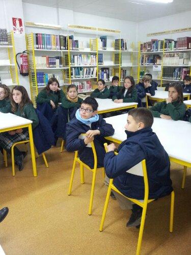 Los alumnos de 5° de primaria visitamos la biblioteca de La Paz
