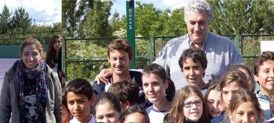 Fernando Romay, asistio a los II Juegos Olímpicos Infantiles