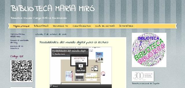 Proyecto de la biblioteca escolar María Miró