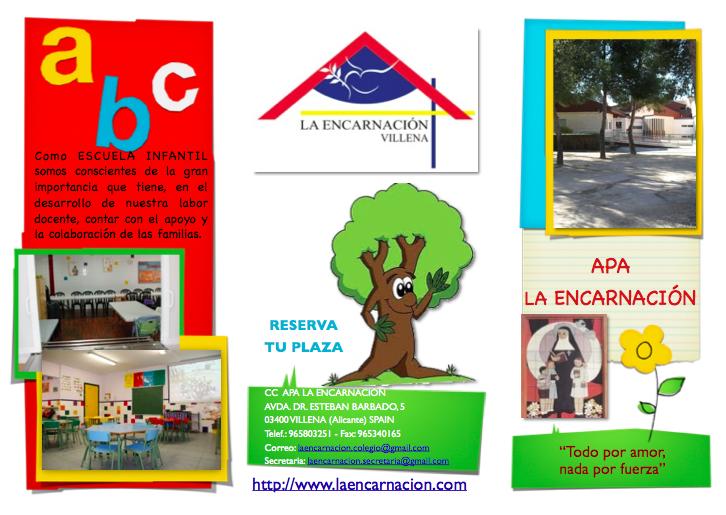Apertura de matrículas para la Escuela Infantil (2 - 3 años)