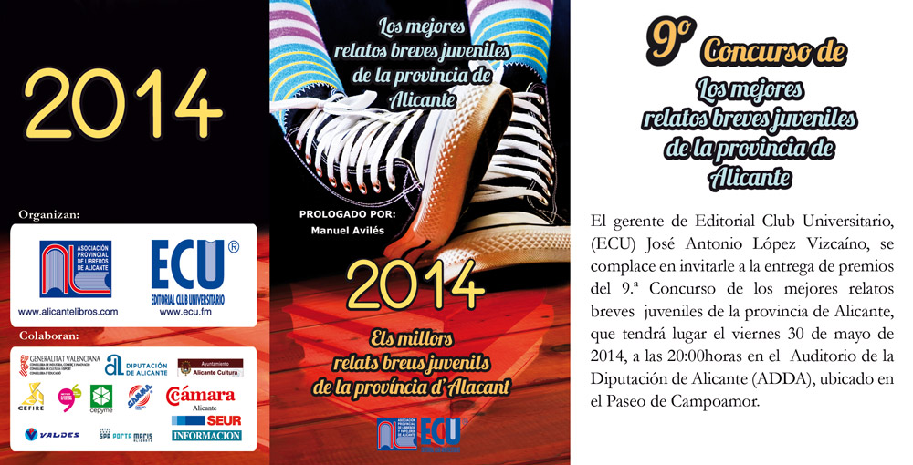 Concurso Los mejores relatos breves juveniles de la provincia de Alicante 2014