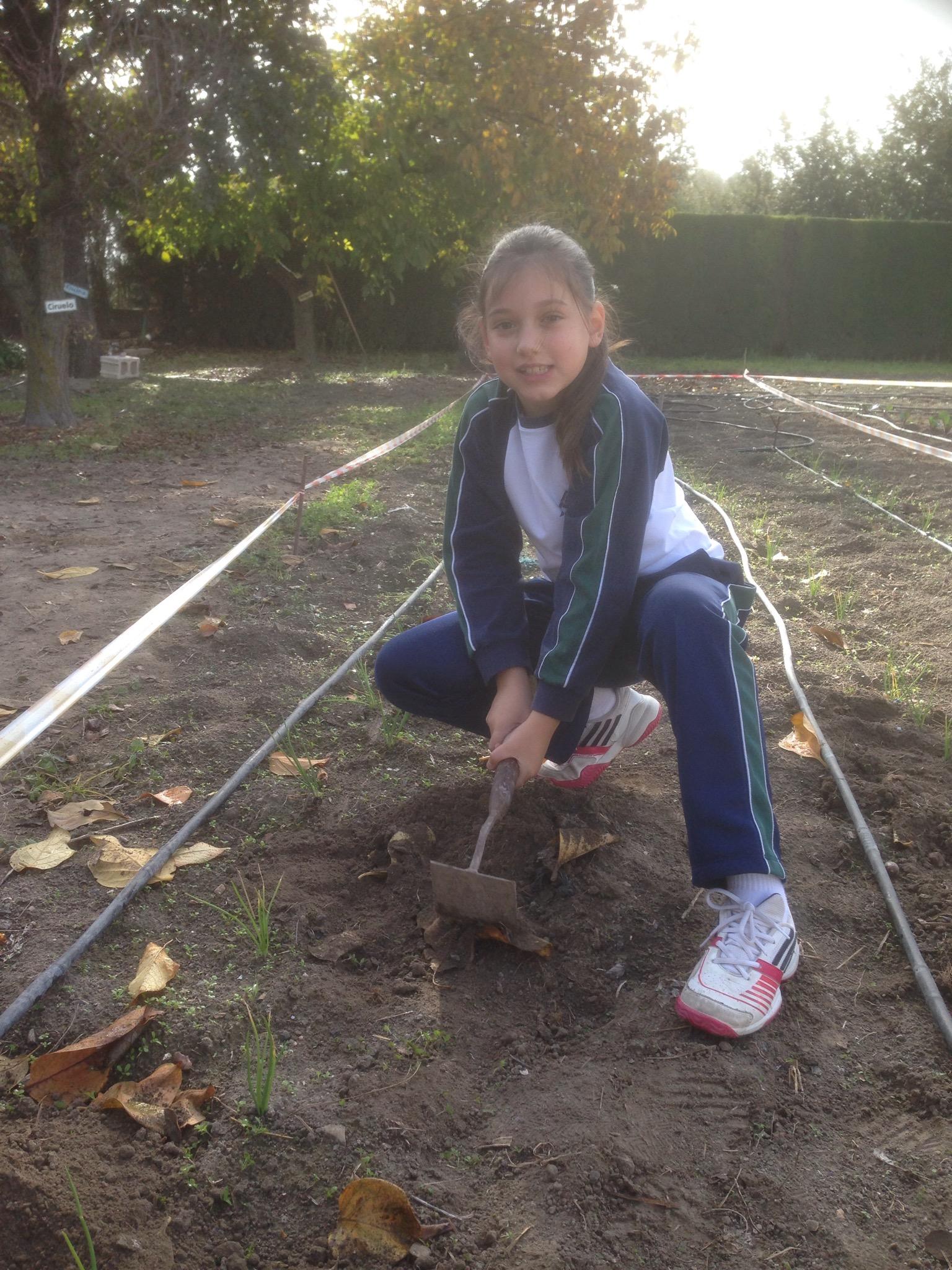Primeras labores en el huerto