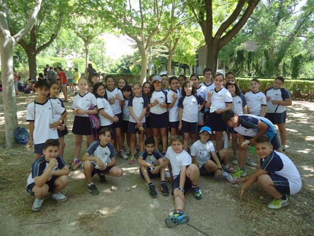 Los alumnos/as de 4º de Primaria en las Olimpiadas.