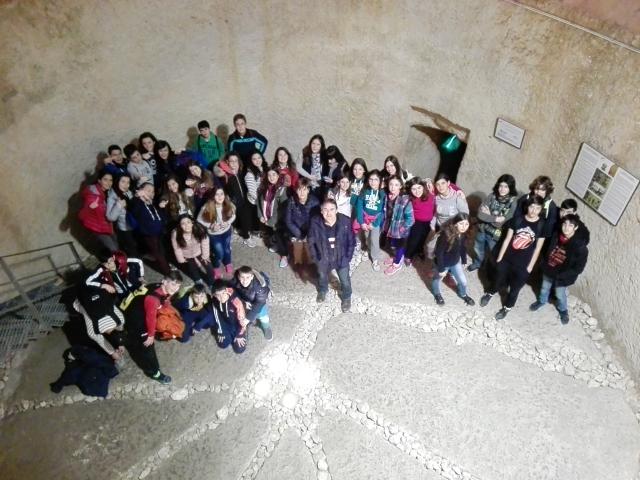 Los alumnos de 2º ESO de excursión en Bocairente