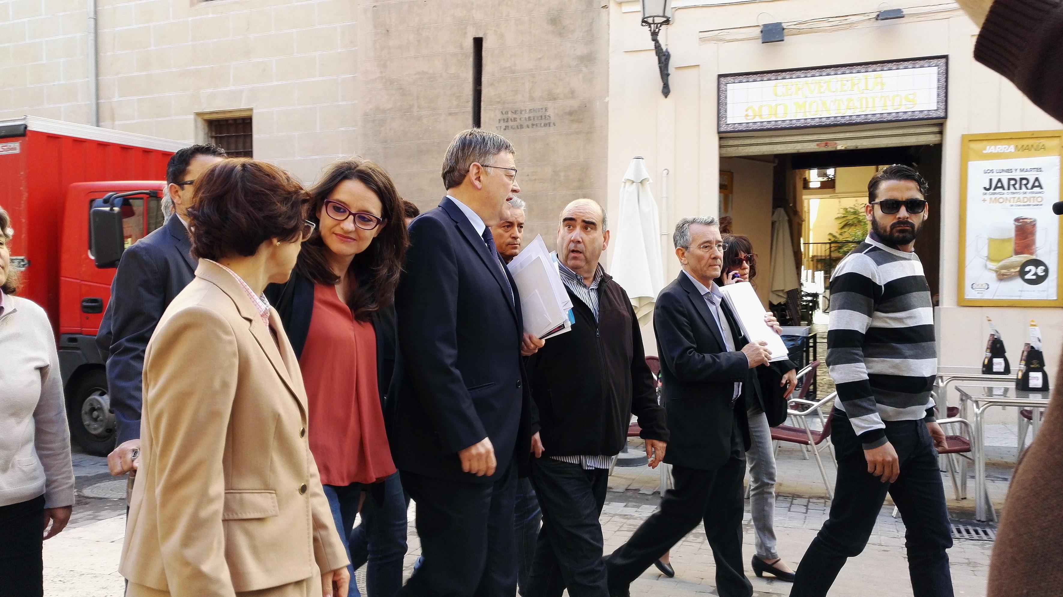 La concertada muestra su protesta ante el President de la Generalitat