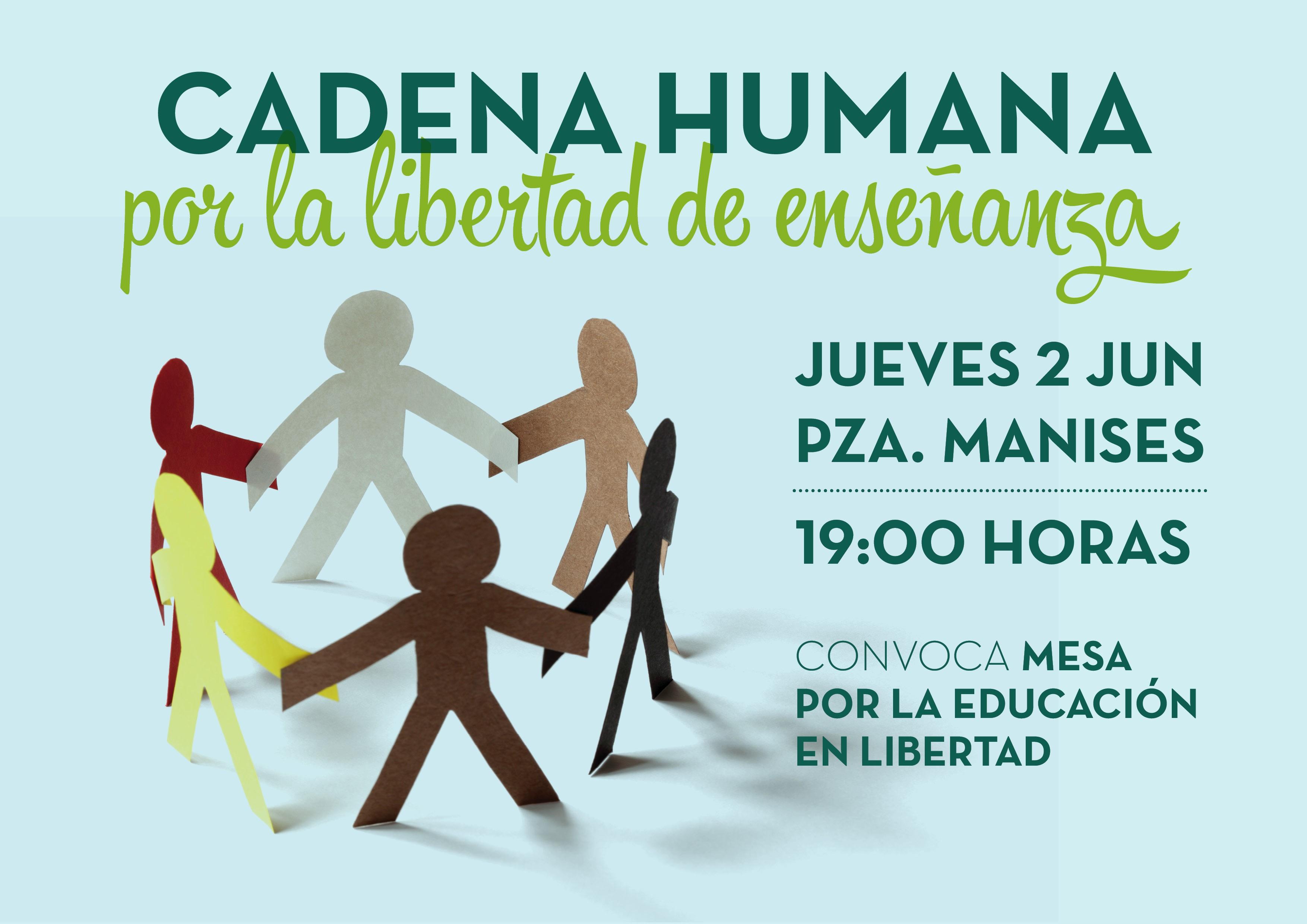 Cadena humana por los derechos de los niños de 2 años