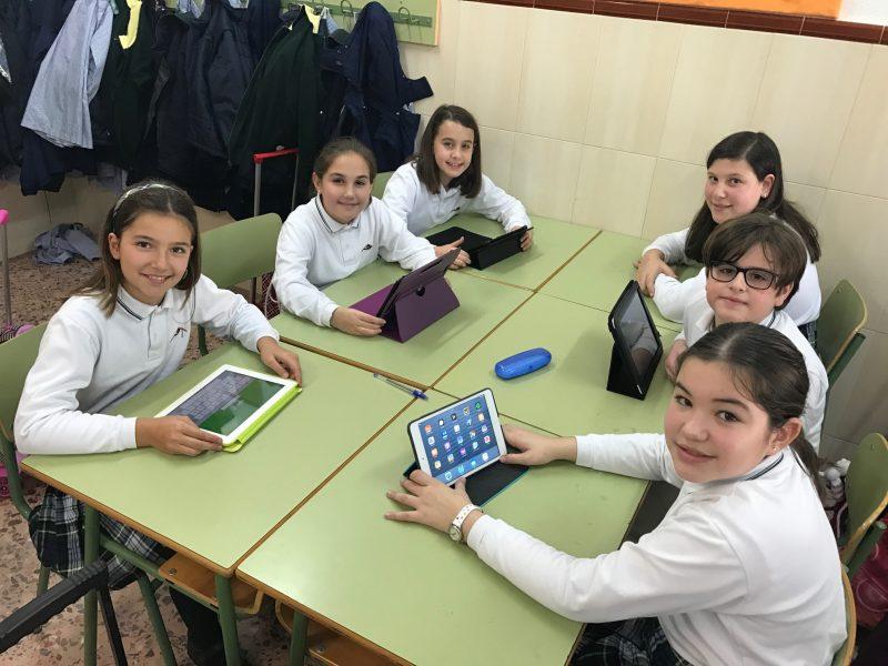 En 5º de Primaria utilizamos tablets