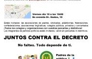Juntos contra el decreto del Plurilingüismo.