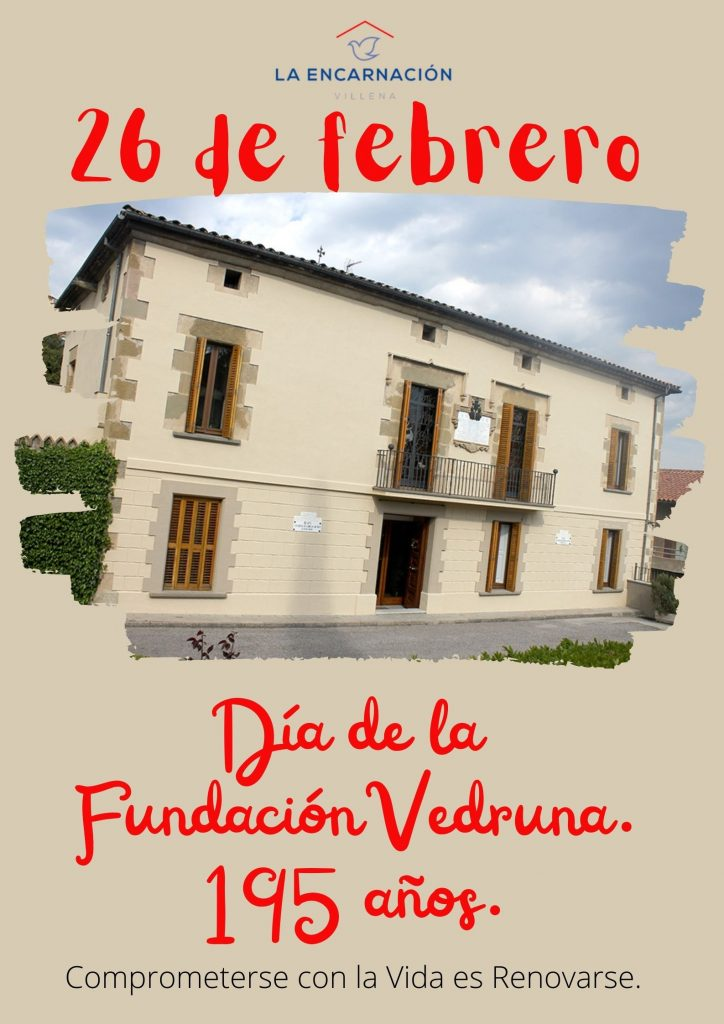26 de febrero, día de la Fundación Vedruna.