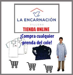 tienda online del colegio La Encarnación, Villena, Alicante